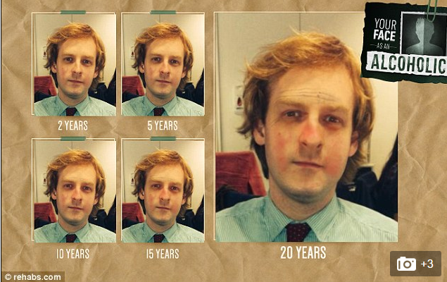 Interactive content example: Your face as an alcoholic