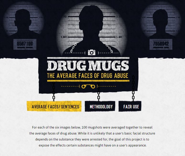 Average Faces of Drug Abuse