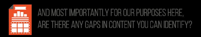 gaps in content