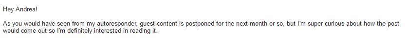 TNW response