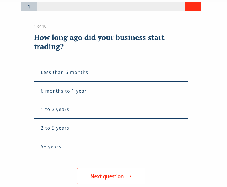 company credit quiz