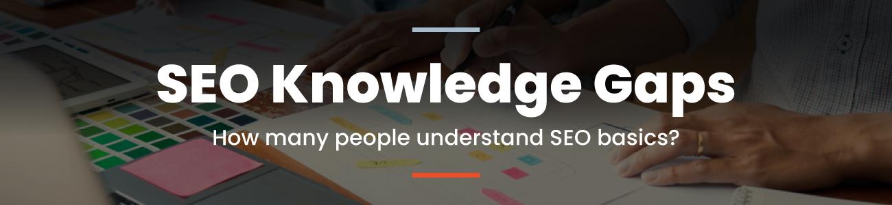 SEO knowledge gaps